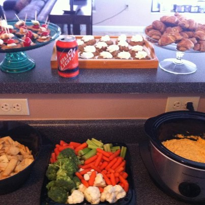 Our most recent tailgate buffet.